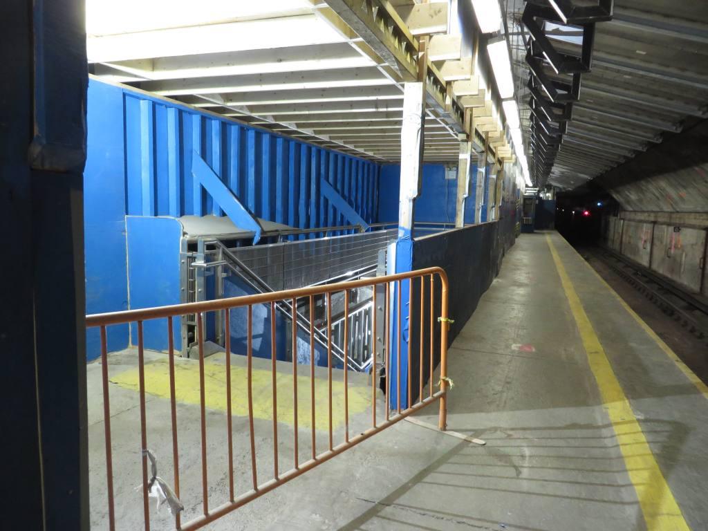 (117k, 1024x768)<br><b>Country:</b> United States<br><b>City:</b> New York<br><b>System:</b> New York City Transit<br><b>Line:</b> IND 63rd Street<br><b>Location:</b> Lexington Avenue-63rd Street <br><b>Photo by:</b> Robbie Rosenfeld<br><b>Date:</b> 1/19/2014<br><b>Notes:</b> Station renovation for 2nd Ave subway<br><b>Viewed (this week/total):</b> 5 / 1433