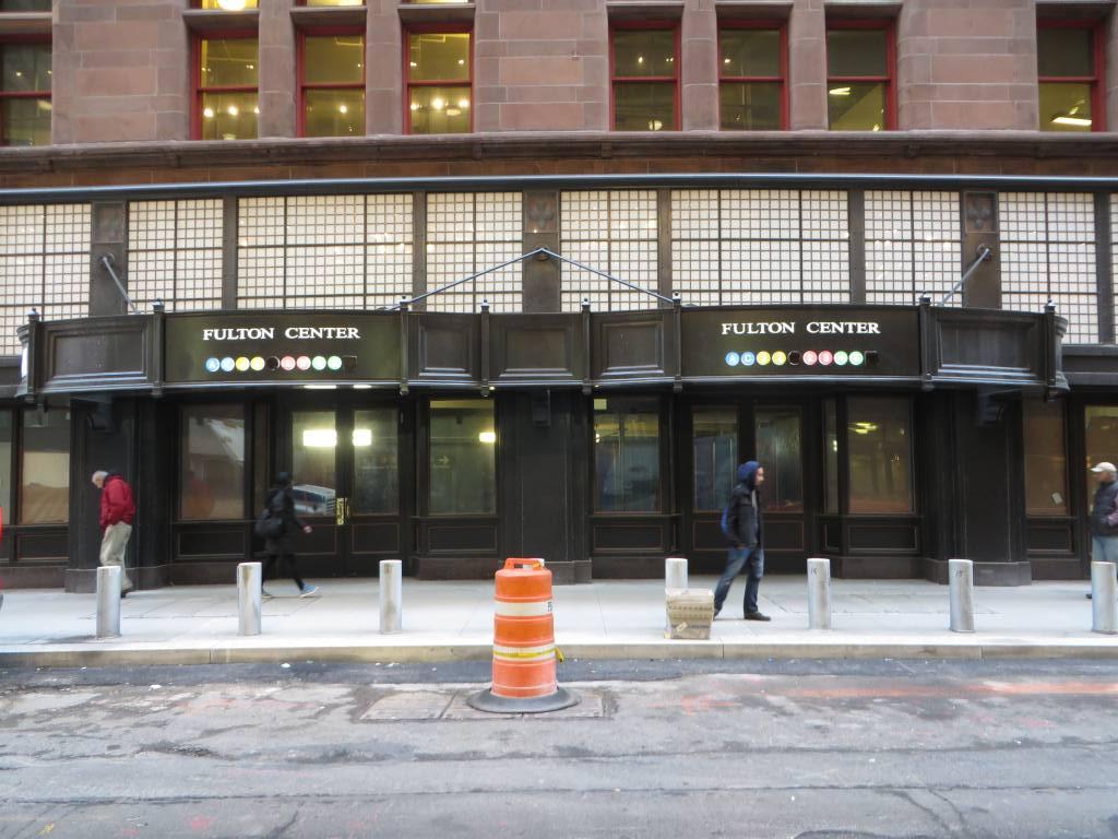 (133k, 1024x768)<br><b>Country:</b> United States<br><b>City:</b> New York<br><b>System:</b> New York City Transit<br><b>Location:</b> Fulton Street Transit Center<br><b>Photo by:</b> Robbie Rosenfeld<br><b>Date:</b> 1/15/2014<br><b>Notes:</b> Corbin Bldg entrance<br><b>Viewed (this week/total):</b> 0 / 824