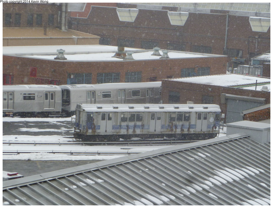 (354k, 1044x794)<br><b>Country:</b> United States<br><b>City:</b> New York<br><b>System:</b> New York City Transit<br><b>Location:</b> 207th Street Yard<br><b>Car:</b> R-14 (American Car & Foundry, 1949) 5871 <br><b>Photo by:</b> Kevin Wong<br><b>Date:</b> 1/25/2014<br><b>Viewed (this week/total):</b> 0 / 955