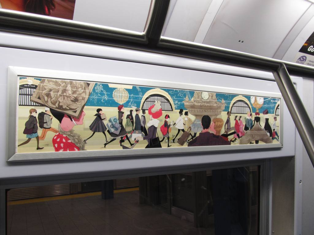 (99k, 1024x768)<br><b>Country:</b> United States<br><b>City:</b> New York<br><b>System:</b> New York City Transit<br><b>Photo by:</b> Robbie Rosenfeld<br><b>Date:</b> 1/28/2013<br><b>Artwork:</b> <i>Grand Central Catwalk</i>, Marcos Chin (2013).<br><b>Viewed (this week/total):</b> 1 / 1009
