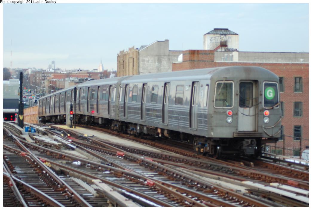 (299k, 1044x701)<br><b>Country:</b> United States<br><b>City:</b> New York<br><b>System:</b> New York City Transit<br><b>Line:</b> BMT Culver Line<br><b>Location:</b> Ditmas Avenue <br><b>Route:</b> G<br><b>Car:</b> R-68/R-68A Series (Number Unknown)  <br><b>Photo by:</b> John Dooley<br><b>Date:</b> 1/26/2014<br><b>Viewed (this week/total):</b> 3 / 1169