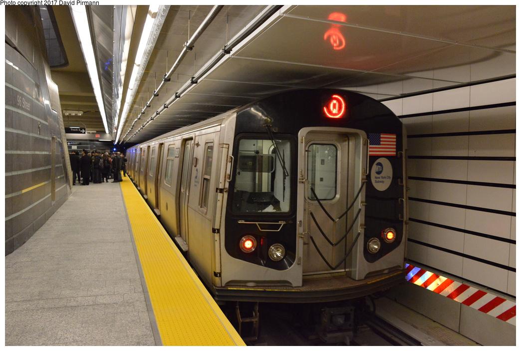 (285k, 1044x703)<br><b>Country:</b> United States<br><b>City:</b> New York<br><b>System:</b> New York City Transit<br><b>Line:</b> 2nd Avenue Subway<br><b>Location:</b> 96th Street<br><b>Route:</b> Q<br><b>Car:</b> R-160B (Kawasaki, 2005-2008) 8928 <br><b>Photo by:</b> David Pirmann<br><b>Date:</b> 1/1/2017<br><b>Viewed (this week/total):</b> 1 / 1179