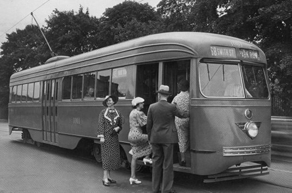 (192k, 1024x675)<br><b>Country:</b> United States<br><b>City:</b> New York<br><b>System:</b> Brooklyn & Queens Transit<br><b>Car:</b> Brooklyn & Queens Transit PCC (St. Louis Car, 1936)  1001 <br><b>Collection of:</b> Frank Pfuhler<br><b>Notes:</b> First car c-1936<br><b>Viewed (this week/total):</b> 1 / 681