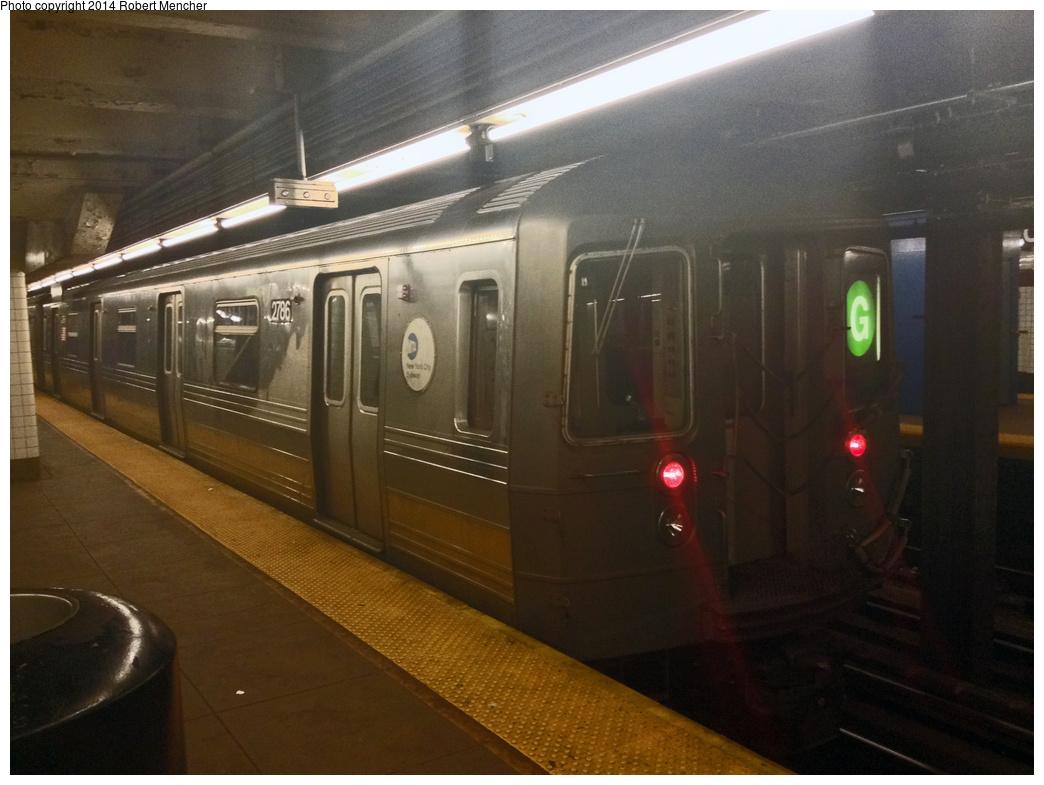 (299k, 1044x785)<br><b>Country:</b> United States<br><b>City:</b> New York<br><b>System:</b> New York City Transit<br><b>Line:</b> IND Crosstown Line<br><b>Location:</b> Court Square <br><b>Route:</b> G<br><b>Car:</b> R-68 (Westinghouse-Amrail, 1986-1988)  2786 <br><b>Photo by:</b> Robert Mencher<br><b>Date:</b> 1/20/2014<br><b>Viewed (this week/total):</b> 0 / 1146