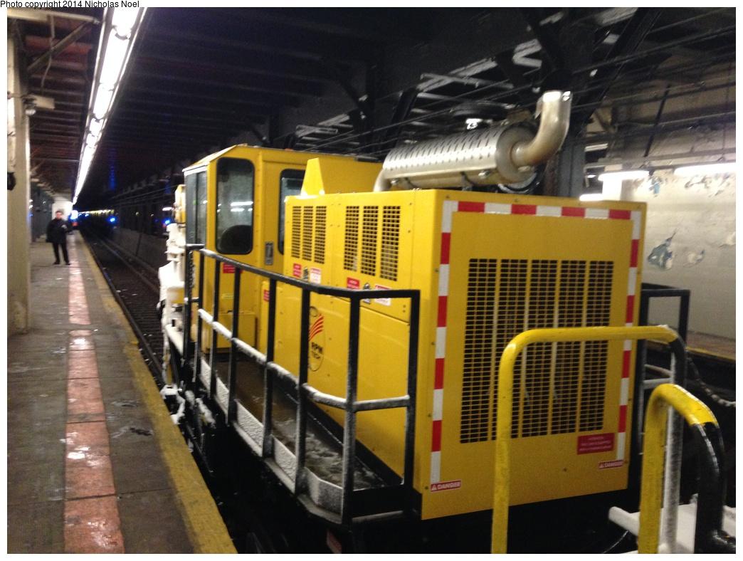 (308k, 1044x788)<br><b>Country:</b> United States<br><b>City:</b> New York<br><b>System:</b> New York City Transit<br><b>Line:</b> IRT Dyre Ave. Line<br><b>Location:</b> Pelham Parkway <br><b>Route:</b> Work Service<br><b>Car:</b> R-146 Snow Removal Car ST305 <br><b>Photo by:</b> Nicholas Noel<br><b>Date:</b> 2/13/2014<br><b>Viewed (this week/total):</b> 1 / 1323