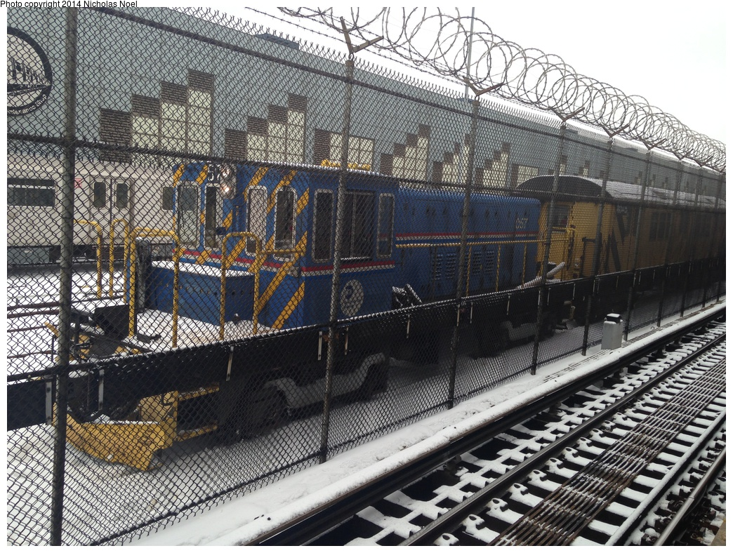 (469k, 1044x788)<br><b>Country:</b> United States<br><b>City:</b> New York<br><b>System:</b> New York City Transit<br><b>Location:</b> East 180th Street Yard<br><b>Route:</b> Work Service<br><b>Car:</b> R-41 Locomotive  57 <br><b>Photo by:</b> Nicholas Noel<br><b>Date:</b> 2/18/2014<br><b>Viewed (this week/total):</b> 3 / 1046