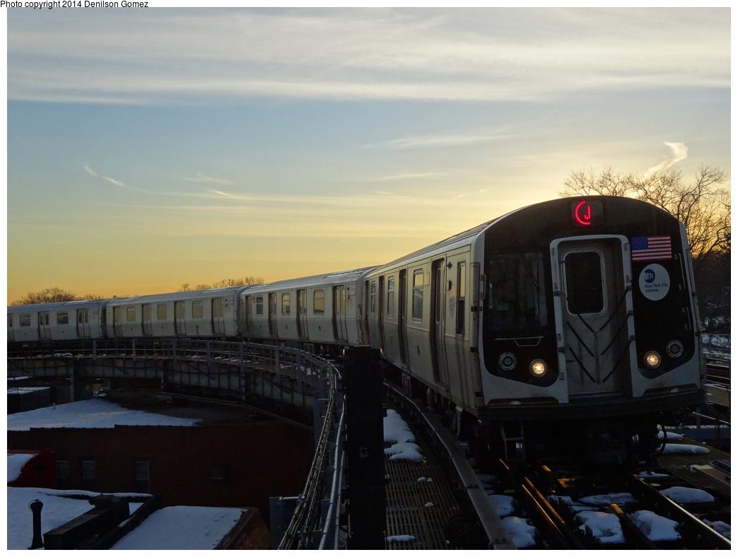 (273k, 1044x788)<br><b>Country:</b> United States<br><b>City:</b> New York<br><b>System:</b> New York City Transit<br><b>Line:</b> BMT Nassau Street/Jamaica Line<br><b>Location:</b> Cypress Hills <br><b>Route:</b> J<br><b>Car:</b> R-160A-1 (Alstom, 2005-2008, 4 car sets)  8546 <br><b>Photo by:</b> Denilson Gomez<br><b>Date:</b> 2/17/2014<br><b>Viewed (this week/total):</b> 1 / 1330