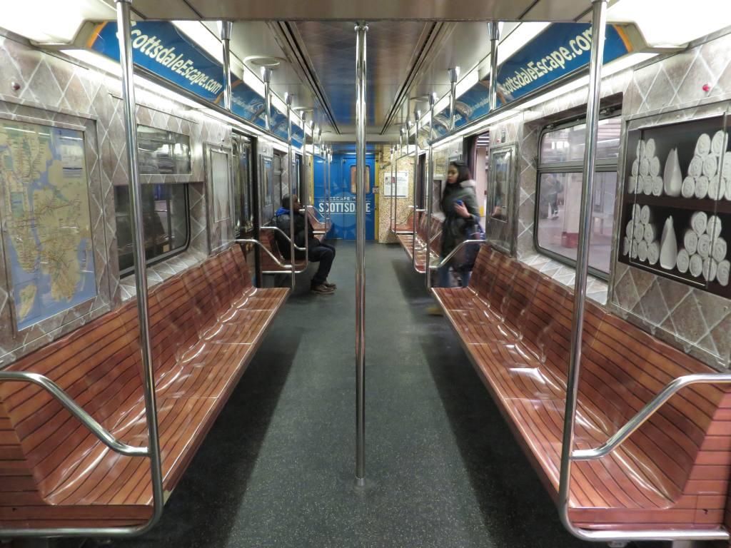 (143k, 1024x768)<br><b>Country:</b> United States<br><b>City:</b> New York<br><b>System:</b> New York City Transit<br><b>Route:</b> S<br><b>Car:</b> R-62A (Bombardier, 1984-1987)  1936 <br><b>Photo by:</b> Robbie Rosenfeld<br><b>Date:</b> 2/12/2014<br><b>Notes:</b> Scottsdale AZ wrap<br><b>Viewed (this week/total):</b> 1 / 910