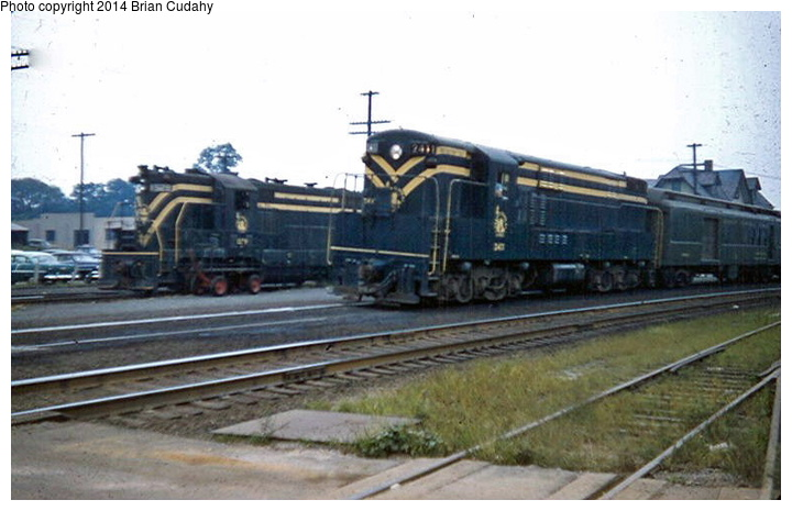 (122k, 720x465)<br><b>Country:</b> United States<br><b>System:</b> CRRNJ <br><b>Photo by:</b> Brian J. Cudahy<br><b>Notes:</b> A Bay Head Junction-bound CNJ train behind an F-M Trainmaster pauses at Matawan where passengers can transfer to the shuttle train for Keyport.<br><b>Viewed (this week/total):</b> 3 / 1854