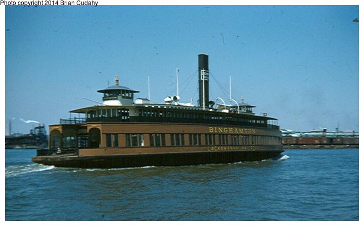 (118k, 720x448)<br><b>Country:</b> United States<br><b>System:</b> DL&W <br><b>Photo by:</b> Brian J. Cudahy<br><b>Notes:</b> DL&W's ferryboat Binghampton in the summer of 1954.<br><b>Viewed (this week/total):</b> 8 / 1838