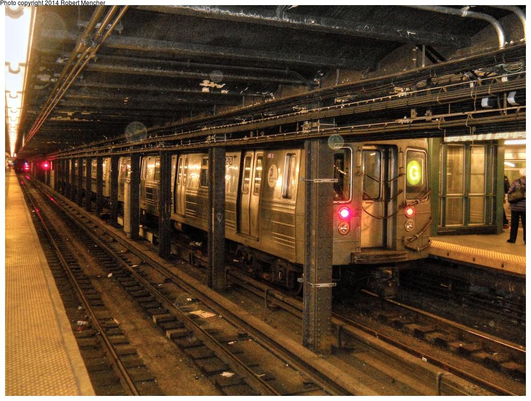 (423k, 1044x788)<br><b>Country:</b> United States<br><b>City:</b> New York<br><b>System:</b> New York City Transit<br><b>Line:</b> IND Crosstown Line<br><b>Location:</b> Church Avenue <br><b>Route:</b> G<br><b>Car:</b> R-68 (Westinghouse-Amrail, 1986-1988)  2878 <br><b>Photo by:</b> Robert Mencher<br><b>Date:</b> 3/11/2014<br><b>Viewed (this week/total):</b> 0 / 1040