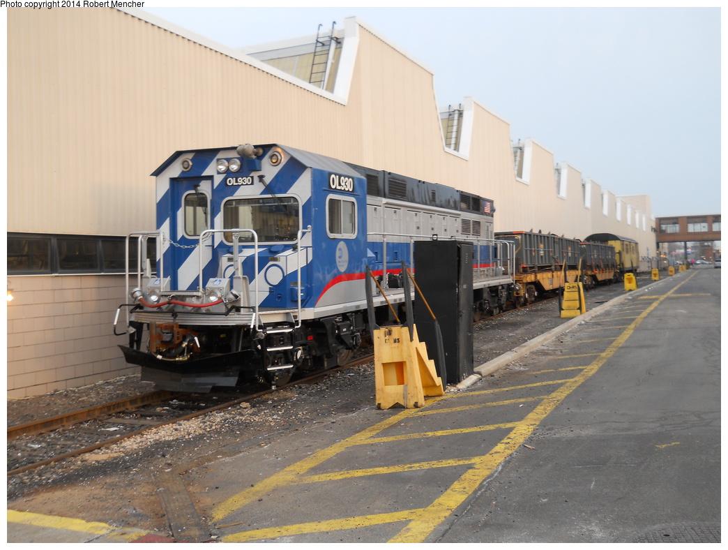 (352k, 1044x788)<br><b>Country:</b> United States<br><b>City:</b> New York<br><b>System:</b> New York City Transit<br><b>Location:</b> Coney Island Yard<br><b>Car:</b> R-156 Diesel-Electric Locomotive (MPI, 2012-2013) 930 <br><b>Photo by:</b> Robert Mencher<br><b>Date:</b> 3/12/2014<br><b>Viewed (this week/total):</b> 0 / 1112