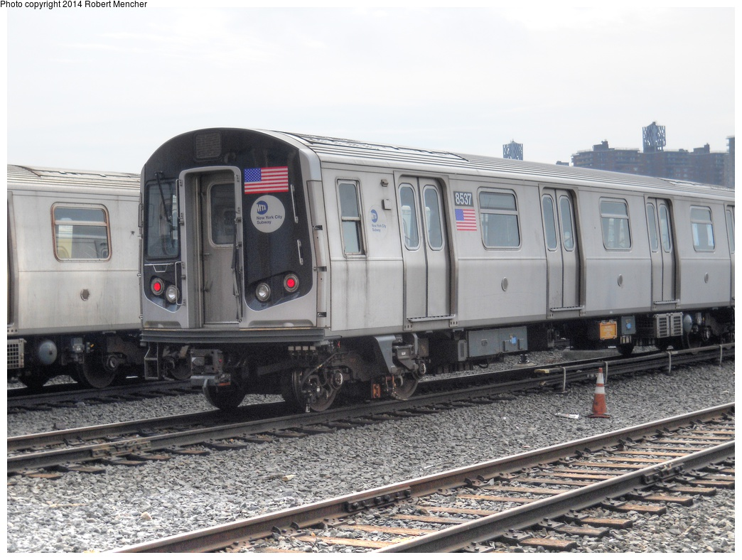 (300k, 1044x788)<br><b>Country:</b> United States<br><b>City:</b> New York<br><b>System:</b> New York City Transit<br><b>Location:</b> Coney Island Yard<br><b>Car:</b> R-160A-1 (Alstom, 2005-2008, 4 car sets)  8537 <br><b>Photo by:</b> Robert Mencher<br><b>Date:</b> 3/12/2014<br><b>Viewed (this week/total):</b> 4 / 840
