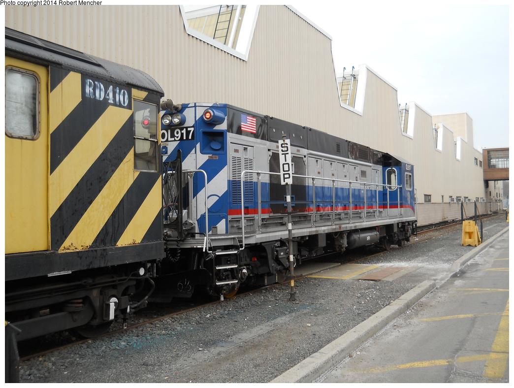(368k, 1044x788)<br><b>Country:</b> United States<br><b>City:</b> New York<br><b>System:</b> New York City Transit<br><b>Location:</b> Coney Island Yard<br><b>Car:</b> R-156 Diesel-Electric Locomotive (MPI, 2012-2013) 917 <br><b>Photo by:</b> Robert Mencher<br><b>Date:</b> 3/12/2014<br><b>Viewed (this week/total):</b> 2 / 955