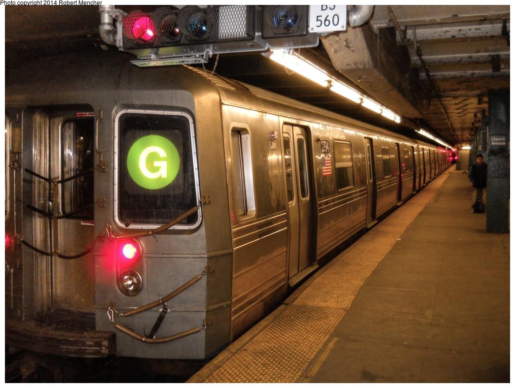 (306k, 1044x788)<br><b>Country:</b> United States<br><b>City:</b> New York<br><b>System:</b> New York City Transit<br><b>Line:</b> IND Crosstown Line<br><b>Location:</b> Church Avenue <br><b>Route:</b> G<br><b>Car:</b> R-68 (Westinghouse-Amrail, 1986-1988)  2794 <br><b>Photo by:</b> Robert Mencher<br><b>Date:</b> 4/16/2014<br><b>Viewed (this week/total):</b> 0 / 1091