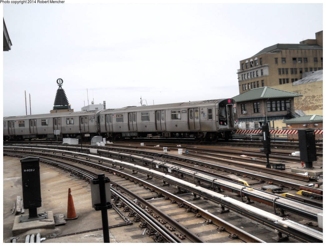 (290k, 1044x788)<br><b>Country:</b> United States<br><b>City:</b> New York<br><b>System:</b> New York City Transit<br><b>Location:</b> Coney Island/Stillwell Avenue<br><b>Route:</b> Q<br><b>Car:</b> R-160B (Kawasaki, 2005-2008)  8963 <br><b>Photo by:</b> Robert Mencher<br><b>Date:</b> 3/16/2014<br><b>Viewed (this week/total):</b> 1 / 1128