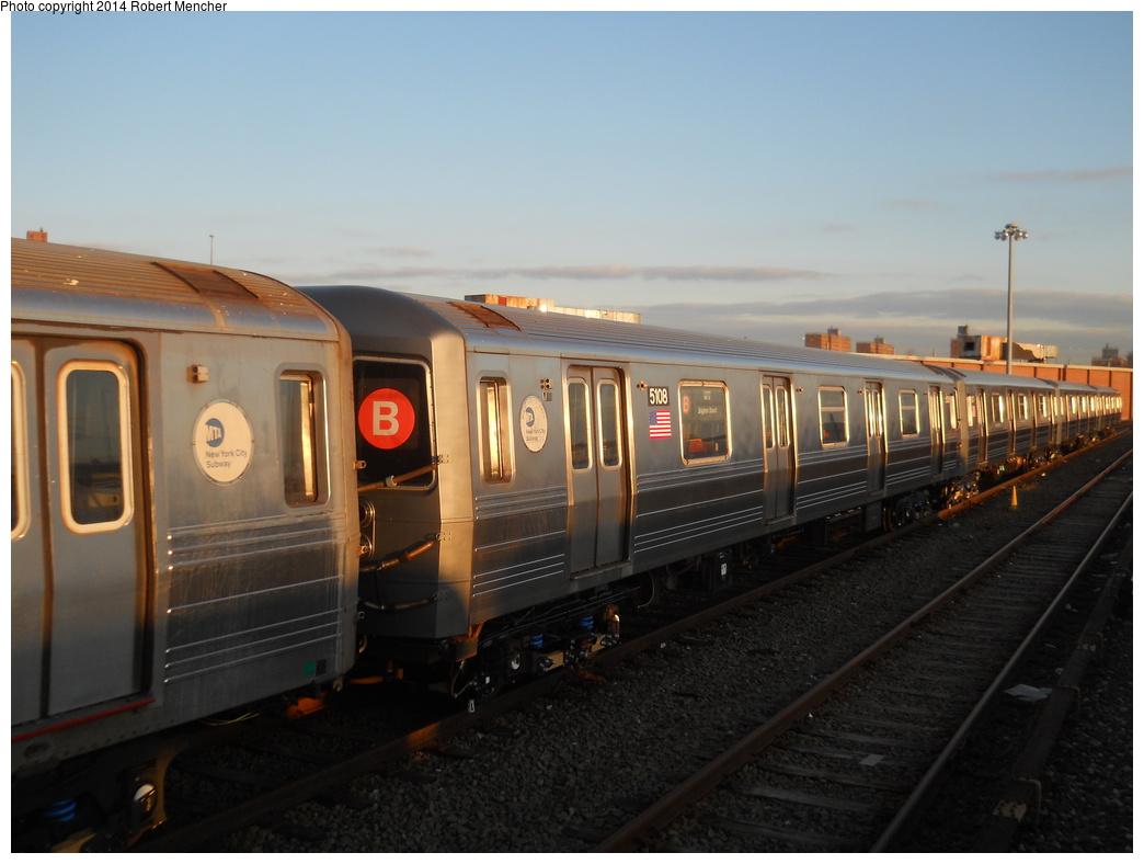 (295k, 1044x788)<br><b>Country:</b> United States<br><b>City:</b> New York<br><b>System:</b> New York City Transit<br><b>Location:</b> Coney Island Yard<br><b>Car:</b> R-68A (Kawasaki, 1988-1989)  5108 <br><b>Photo by:</b> Robert Mencher<br><b>Date:</b> 3/21/2014<br><b>Viewed (this week/total):</b> 0 / 932