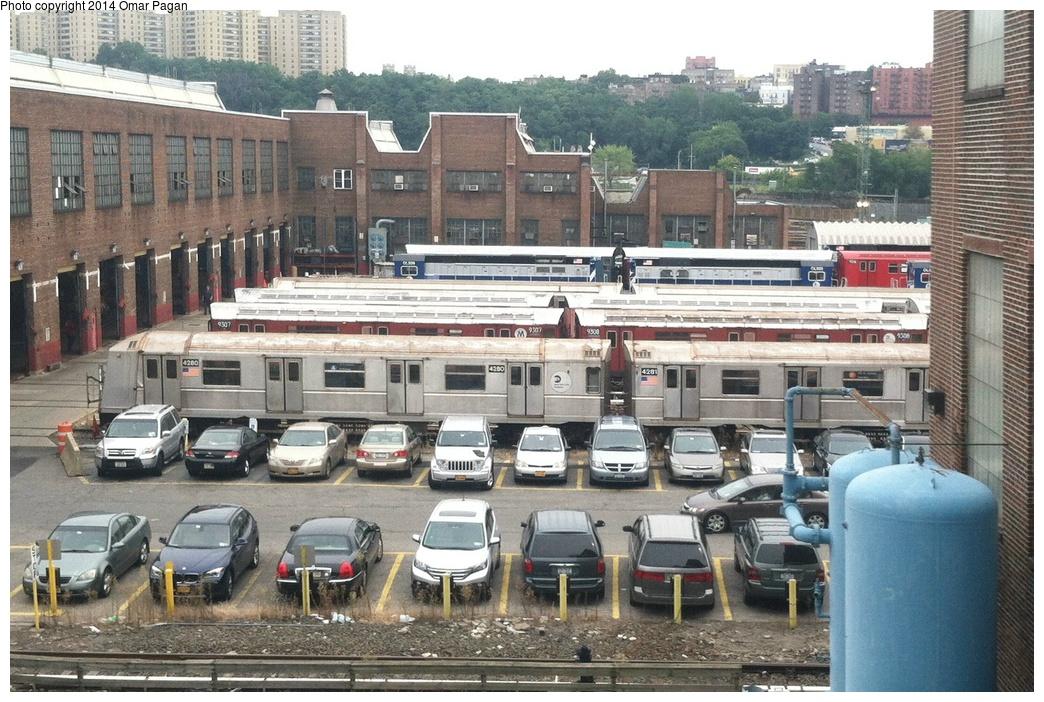 (360k, 1044x702)<br><b>Country:</b> United States<br><b>City:</b> New York<br><b>System:</b> New York City Transit<br><b>Location:</b> 207th Street Yard<br><b>Car:</b> R-40 (St. Louis, 1968)  4280 <br><b>Photo by:</b> Omar Pagan<br><b>Date:</b> 8/19/2013<br><b>Viewed (this week/total):</b> 1 / 1168