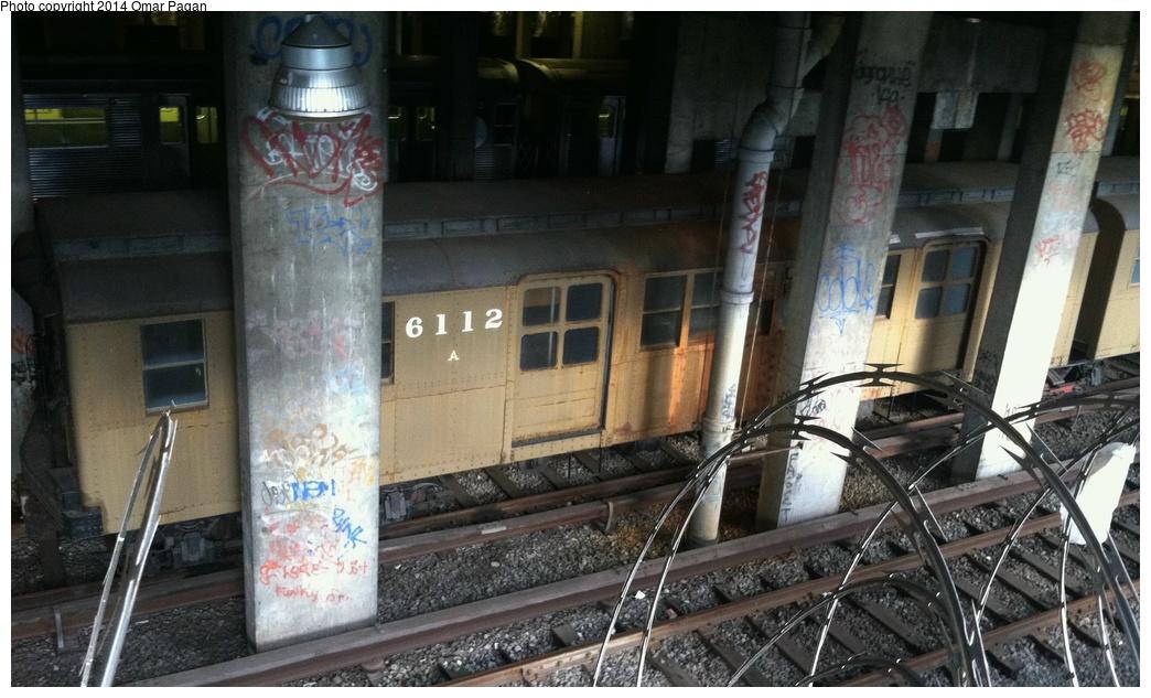 (273k, 1044x633)<br><b>Country:</b> United States<br><b>City:</b> New York<br><b>System:</b> New York City Transit<br><b>Location:</b> Pitkin Yard/Shops<br><b>Car:</b> BMT D-Type Triplex 6112 <br><b>Photo by:</b> Omar Pagan<br><b>Date:</b> 9/26/2013<br><b>Viewed (this week/total):</b> 2 / 1479