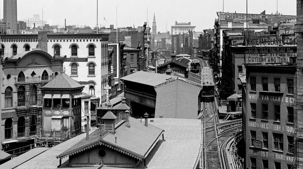(245k, 1024x573)<br><b>Country:</b> United States<br><b>City:</b> New York<br><b>System:</b> New York City Transit<br><b>Line:</b> 3rd Avenue El<br><b>Location:</b> Chatham Square<br><b>Collection of:</b> Frank Pfuhler<br><b>Date:</b> 1905<br><b>Viewed (this week/total):</b> 2 / 739
