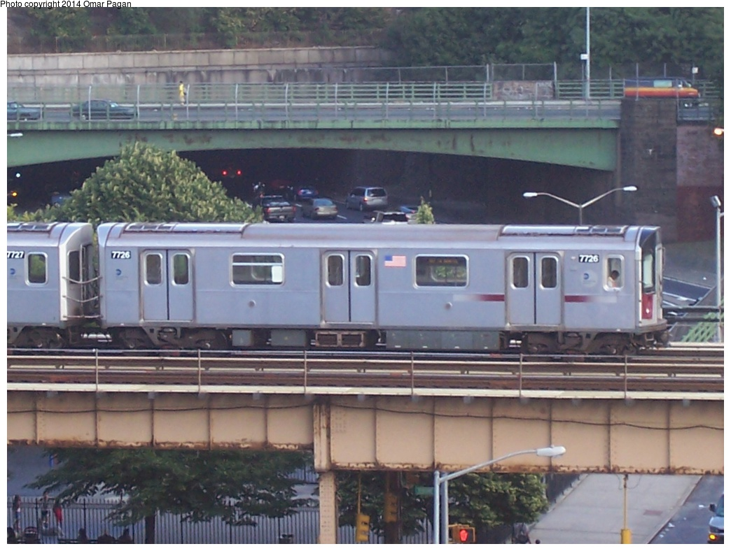 (273k, 1044x788)<br><b>Country:</b> United States<br><b>City:</b> New York<br><b>System:</b> New York City Transit<br><b>Line:</b> IRT Woodlawn Line<br><b>Location:</b> Mt. Eden Avenue <br><b>Route:</b> 4<br><b>Car:</b> R-142A (Option Order, Kawasaki, 2002-2003)  7726 <br><b>Photo by:</b> Omar Pagan<br><b>Date:</b> 8/27/2005<br><b>Viewed (this week/total):</b> 2 / 1374
