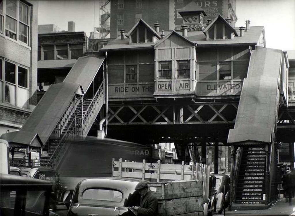 (228k, 1024x752)<br><b>Country:</b> United States<br><b>City:</b> New York<br><b>System:</b> New York City Transit<br><b>Line:</b> 6th Avenue El<br><b>Location:</b> 28th Street <br><b>Collection of:</b> Frank Pfuhler<br><b>Date:</b> 1938<br><b>Viewed (this week/total):</b> 2 / 869