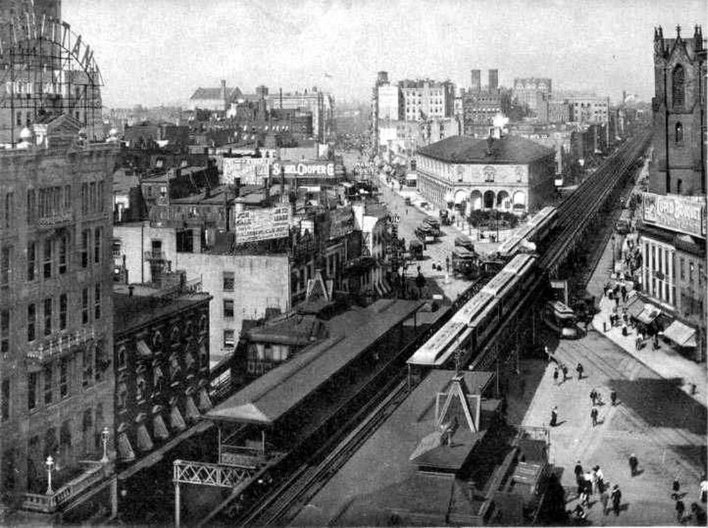 (297k, 1024x764)<br><b>Country:</b> United States<br><b>City:</b> New York<br><b>System:</b> New York City Transit<br><b>Line:</b> 6th Avenue El<br><b>Location:</b> 33rd Street <br><b>Collection of:</b> Frank Pfuhler<br><b>Date:</b> 1888<br><b>Viewed (this week/total):</b> 3 / 899