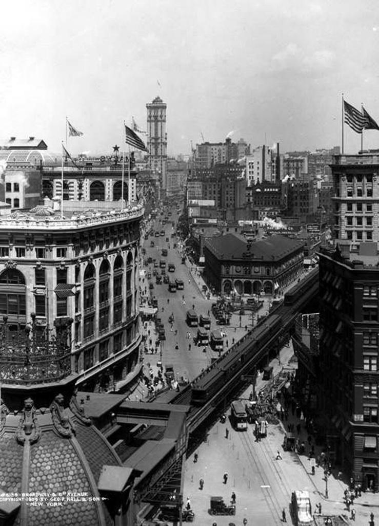 (242k, 739x1024)<br><b>Country:</b> United States<br><b>City:</b> New York<br><b>System:</b> New York City Transit<br><b>Line:</b> 6th Avenue El<br><b>Location:</b> 33rd Street <br><b>Collection of:</b> Frank Pfuhler<br><b>Date:</b> 1909<br><b>Viewed (this week/total):</b> 5 / 719