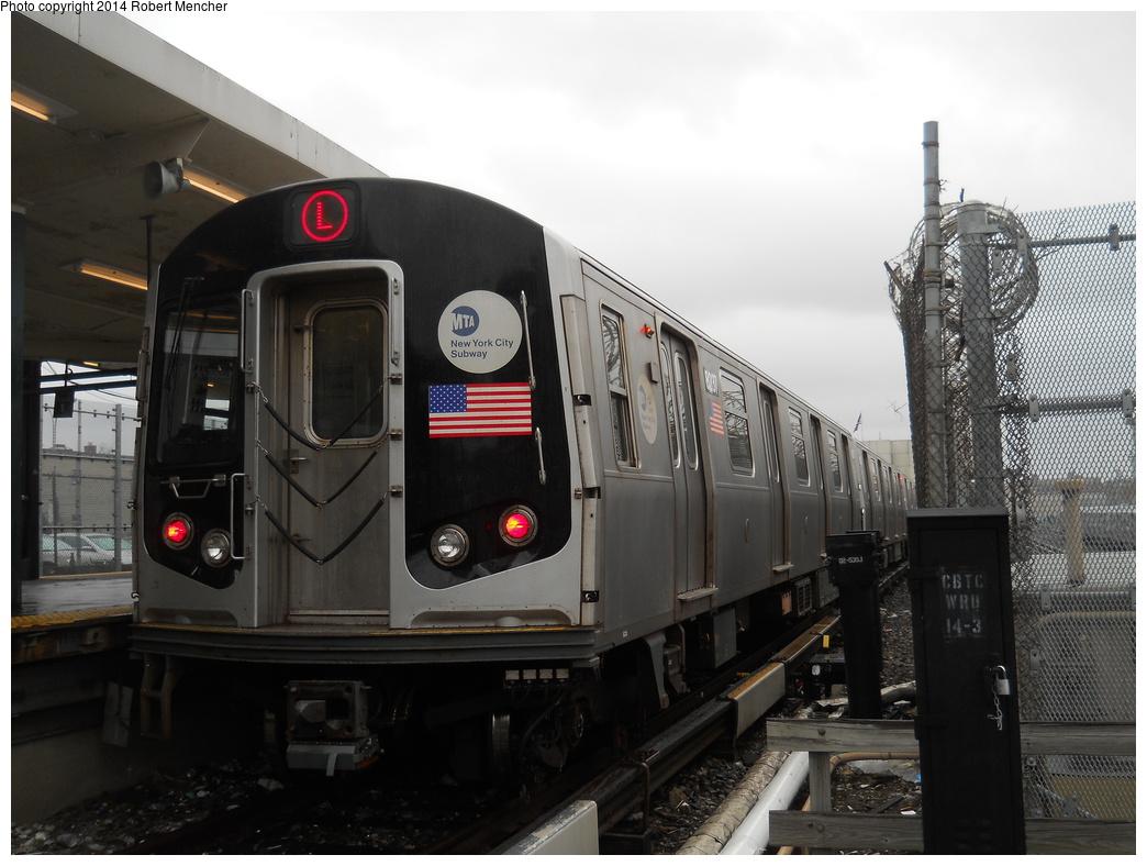 (320k, 1044x788)<br><b>Country:</b> United States<br><b>City:</b> New York<br><b>System:</b> New York City Transit<br><b>Line:</b> BMT Canarsie Line<br><b>Location:</b> Rockaway Parkway <br><b>Route:</b> L<br><b>Car:</b> R-143 (Kawasaki, 2001-2002) 8237 <br><b>Photo by:</b> Robert Mencher<br><b>Date:</b> 4/4/2014<br><b>Viewed (this week/total):</b> 0 / 959
