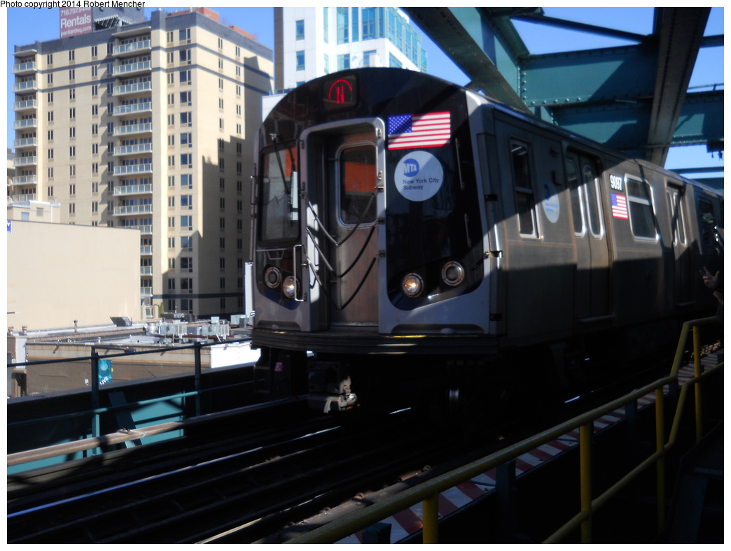 (317k, 1044x788)<br><b>Country:</b> United States<br><b>City:</b> New York<br><b>System:</b> New York City Transit<br><b>Line:</b> BMT Astoria Line<br><b>Location:</b> Queensborough Plaza <br><b>Route:</b> N<br><b>Car:</b> R-160B (Option 1) (Kawasaki, 2008-2009)  9097 <br><b>Photo by:</b> Robert Mencher<br><b>Date:</b> 4/6/2014<br><b>Viewed (this week/total):</b> 0 / 932