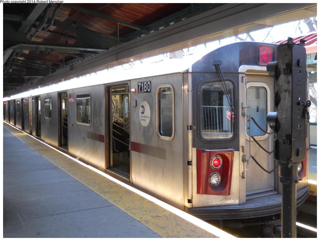 (339k, 1044x788)<br><b>Country:</b> United States<br><b>City:</b> New York<br><b>System:</b> New York City Transit<br><b>Line:</b> IRT Woodlawn Line<br><b>Location:</b> Woodlawn <br><b>Route:</b> 4<br><b>Car:</b> R-142 (Option Order, Bombardier, 2002-2003)  7180 <br><b>Photo by:</b> Robert Mencher<br><b>Date:</b> 4/10/2014<br><b>Viewed (this week/total):</b> 4 / 991