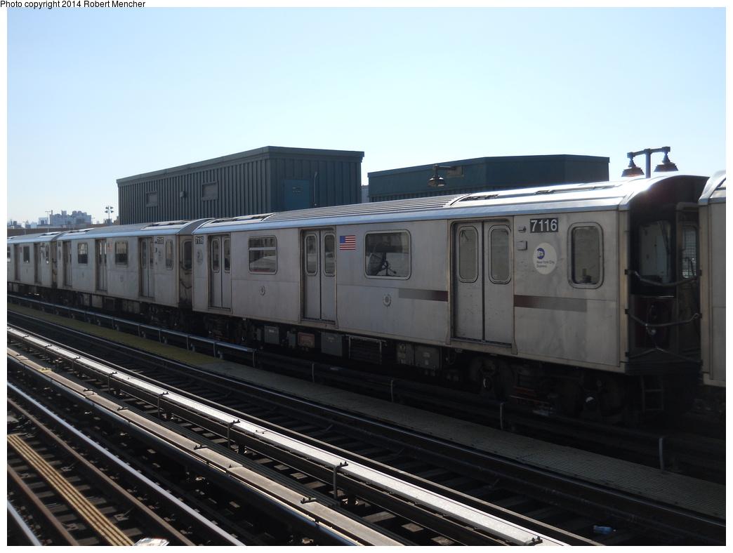 (293k, 1044x788)<br><b>Country:</b> United States<br><b>City:</b> New York<br><b>System:</b> New York City Transit<br><b>Line:</b> IRT Woodlawn Line<br><b>Location:</b> 161st Street/River Avenue (Yankee Stadium) <br><b>Route:</b> 4<br><b>Car:</b> R-142 (Option Order, Bombardier, 2002-2003)  7116 <br><b>Photo by:</b> Robert Mencher<br><b>Date:</b> 4/10/2014<br><b>Viewed (this week/total):</b> 0 / 619