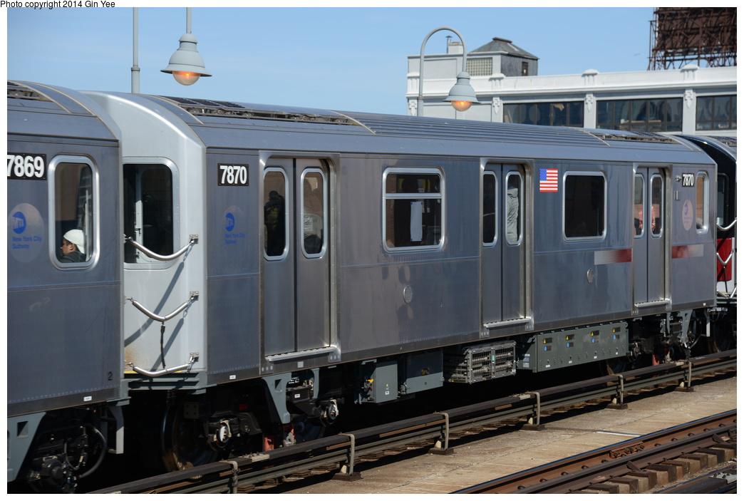 (313k, 1044x703)<br><b>Country:</b> United States<br><b>City:</b> New York<br><b>System:</b> New York City Transit<br><b>Line:</b> IRT Flushing Line<br><b>Location:</b> 33rd Street/Rawson Street <br><b>Route:</b> 7<br><b>Car:</b> R-188 (Kawasaki, 2012-) 7870 <br><b>Photo by:</b> Gin Yee<br><b>Date:</b> 4/10/2014<br><b>Viewed (this week/total):</b> 0 / 1007