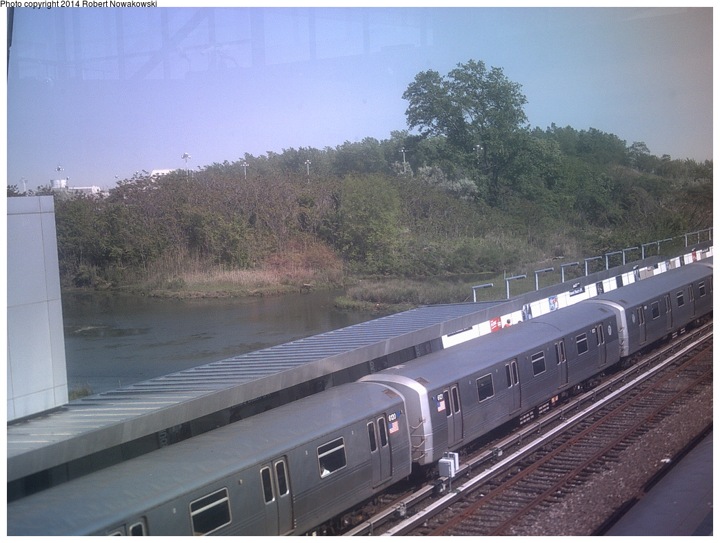 (350k, 1044x788)<br><b>Country:</b> United States<br><b>City:</b> New York<br><b>System:</b> New York City Transit<br><b>Line:</b> IND Rockaway<br><b>Location:</b> Howard Beach <br><b>Route:</b> A<br><b>Car:</b> R-46 (Pullman-Standard, 1974-75) 6120 <br><b>Photo by:</b> Robert Nowakowski<br><b>Date:</b> 5/21/2013<br><b>Viewed (this week/total):</b> 1 / 1113