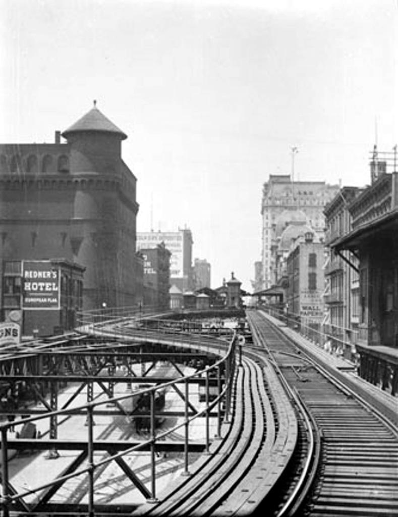 (179k, 789x1024)<br><b>Country:</b> United States<br><b>City:</b> New York<br><b>System:</b> New York City Transit<br><b>Line:</b> 3rd Avenue El<br><b>Location:</b> 67th Street <br><b>Collection of:</b> Frank Pfuhler<br><b>Date:</b> 1890<br><b>Notes:</b> View north near 69th St<br><b>Viewed (this week/total):</b> 0 / 593