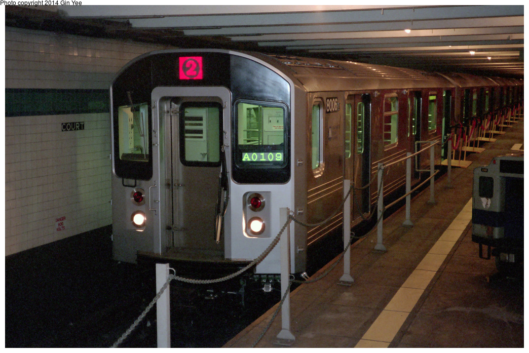 (394k, 1044x697)<br><b>Country:</b> United States<br><b>City:</b> New York<br><b>System:</b> New York City Transit<br><b>Location:</b> New York Transit Museum<br><b>Car:</b> R-110A (Kawasaki, 1992) 8006 <br><b>Photo by:</b> Gin Yee<br><b>Date:</b> 11/1992<br><b>Viewed (this week/total):</b> 5 / 2244
