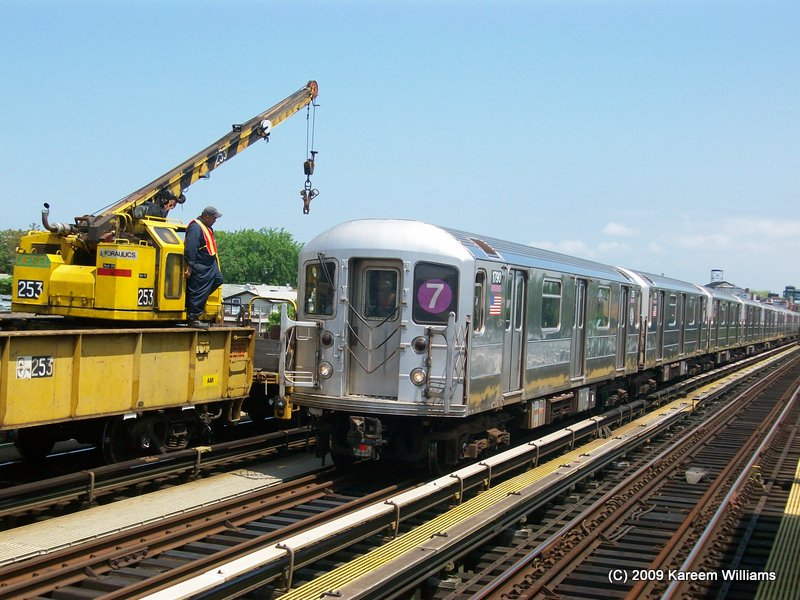 (123k, 800x600)<br><b>Country:</b> United States<br><b>City:</b> New York<br><b>System:</b> New York City Transit<br><b>Line:</b> IRT Flushing Line<br><b>Location:</b> 90th Street/Elmhurst Avenue <br><b>Route:</b> 7<br><b>Car:</b> R-62A (Bombardier, 1984-1987)  1790 <br><b>Photo by:</b> Kareem Williams<br><b>Date:</b> 5/15/2009<br><b>Viewed (this week/total):</b> 4 / 1132