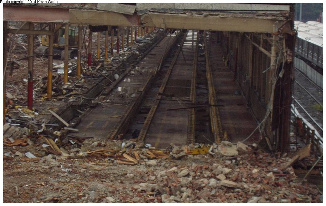 (244k, 1044x662)<br><b>Country:</b> United States<br><b>City:</b> New York<br><b>System:</b> New York City Transit<br><b>Location:</b> Corona Yard<br><b>Photo by:</b> Kevin Wong<br><b>Date:</b> 8/25/2007<br><b>Notes:</b> Old shop demolition<br><b>Viewed (this week/total):</b> 1 / 1049