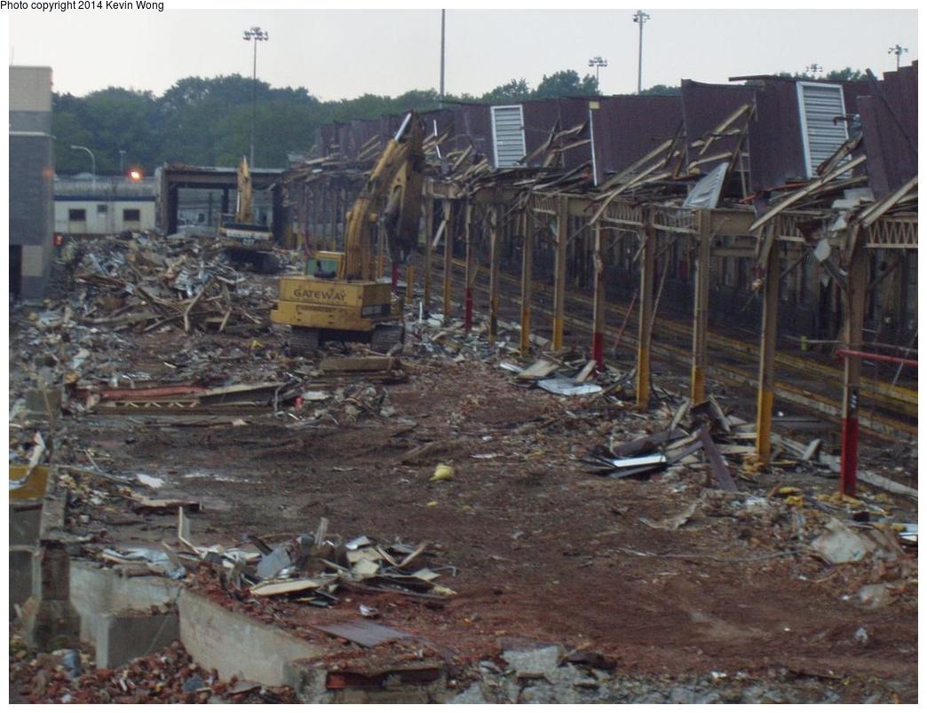 (283k, 1044x804)<br><b>Country:</b> United States<br><b>City:</b> New York<br><b>System:</b> New York City Transit<br><b>Location:</b> Corona Yard<br><b>Photo by:</b> Kevin Wong<br><b>Date:</b> 8/25/2007<br><b>Notes:</b> Old shop demolition<br><b>Viewed (this week/total):</b> 1 / 1106