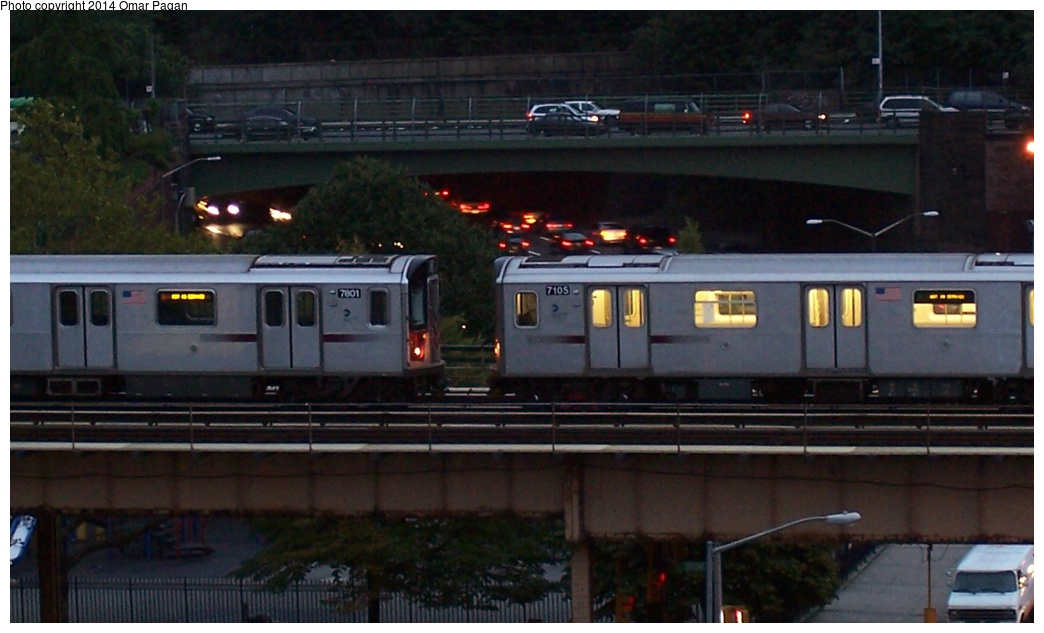 (218k, 1044x633)<br><b>Country:</b> United States<br><b>City:</b> New York<br><b>System:</b> New York City Transit<br><b>Line:</b> IRT Woodlawn Line<br><b>Location:</b> Mt. Eden Avenue <br><b>Route:</b> Layup<br><b>Car:</b> R-142 (Option Order, Bombardier, 2002-2003)  7105/7801 <br><b>Photo by:</b> Omar Pagan<br><b>Date:</b> 9/30/2006<br><b>Viewed (this week/total):</b> 1 / 1187