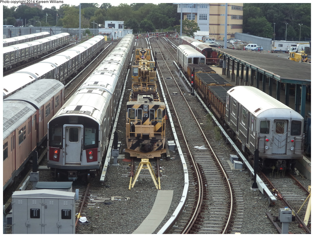 (452k, 1044x788)<br><b>Country:</b> United States<br><b>City:</b> New York<br><b>System:</b> New York City Transit<br><b>Location:</b> Corona Yard<br><b>Car:</b> R-52 Locomotive  73 <br><b>Photo by:</b> Kareem Williams<br><b>Date:</b> 7/26/2013<br><b>Viewed (this week/total):</b> 1 / 894