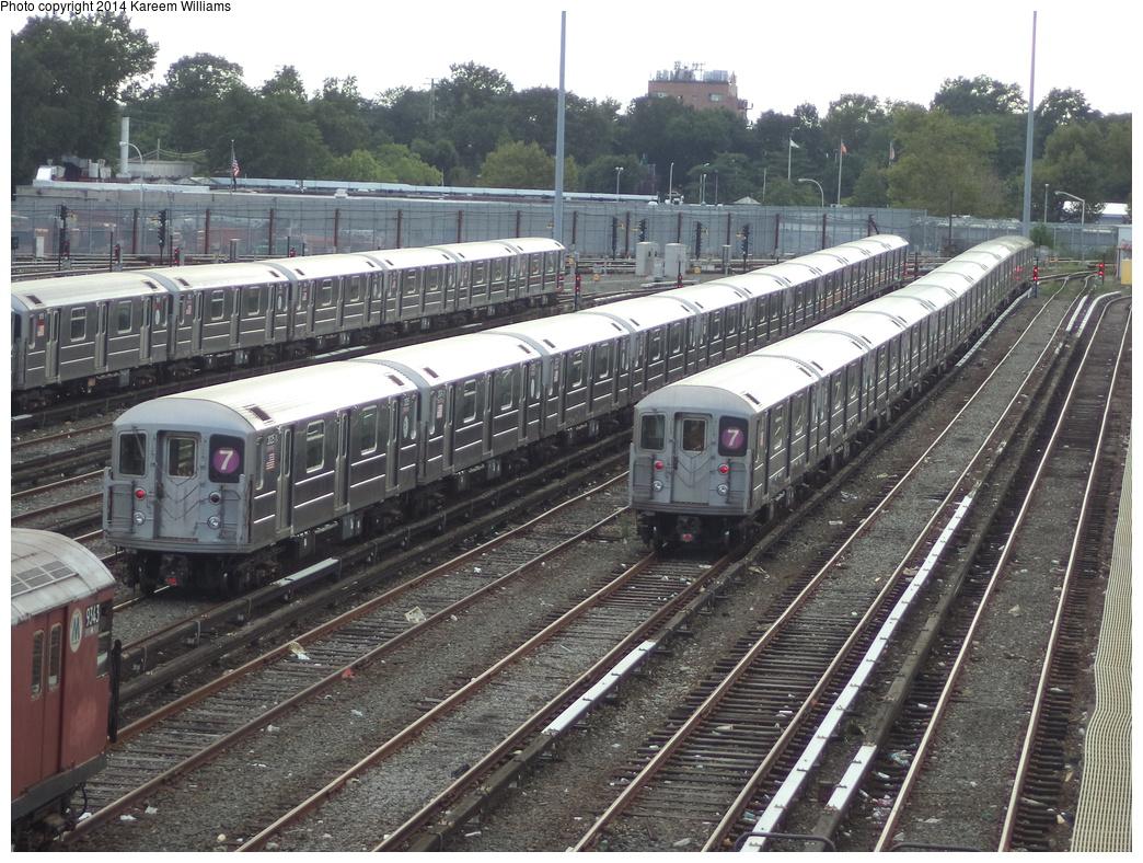 (424k, 1044x788)<br><b>Country:</b> United States<br><b>City:</b> New York<br><b>System:</b> New York City Transit<br><b>Location:</b> Corona Yard<br><b>Car:</b> R-62A (Bombardier, 1984-1987)  2025 <br><b>Photo by:</b> Kareem Williams<br><b>Date:</b> 7/26/2013<br><b>Viewed (this week/total):</b> 0 / 677