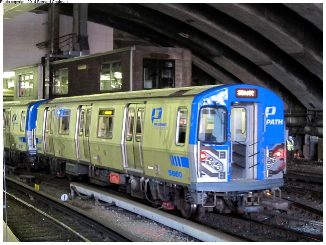 (311k, 1044x787)<br><b>Country:</b> United States<br><b>City:</b> Jersey City, NJ<br><b>System:</b> PATH<br><b>Location:</b> Journal Square <br><b>Car:</b> PATH PA-5 (Kawasaki, 2009-2011) 5660 <br><b>Photo by:</b> Bernard Chatreau<br><b>Date:</b> 4/18/2011<br><b>Viewed (this week/total):</b> 0 / 765
