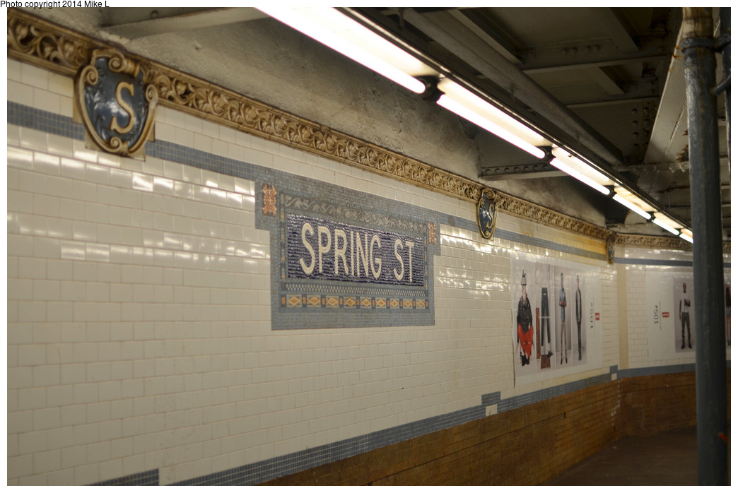 (284k, 1044x698)<br><b>Country:</b> United States<br><b>City:</b> New York<br><b>System:</b> New York City Transit<br><b>Line:</b> IRT East Side Line<br><b>Location:</b> Spring Street <br><b>Photo by:</b> Mike L.<br><b>Date:</b> 6/29/2013<br><b>Viewed (this week/total):</b> 0 / 898