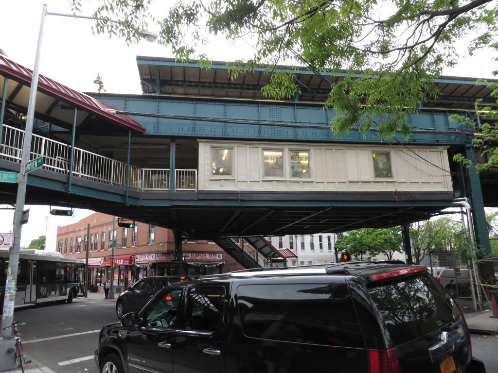 (160k, 1024x768)<br><b>Country:</b> United States<br><b>City:</b> New York<br><b>System:</b> New York City Transit<br><b>Line:</b> BMT Myrtle Avenue Line<br><b>Location:</b> Forest Avenue <br><b>Photo by:</b> Robbie Rosenfeld<br><b>Date:</b> 5/12/2014<br><b>Viewed (this week/total):</b> 4 / 1260
