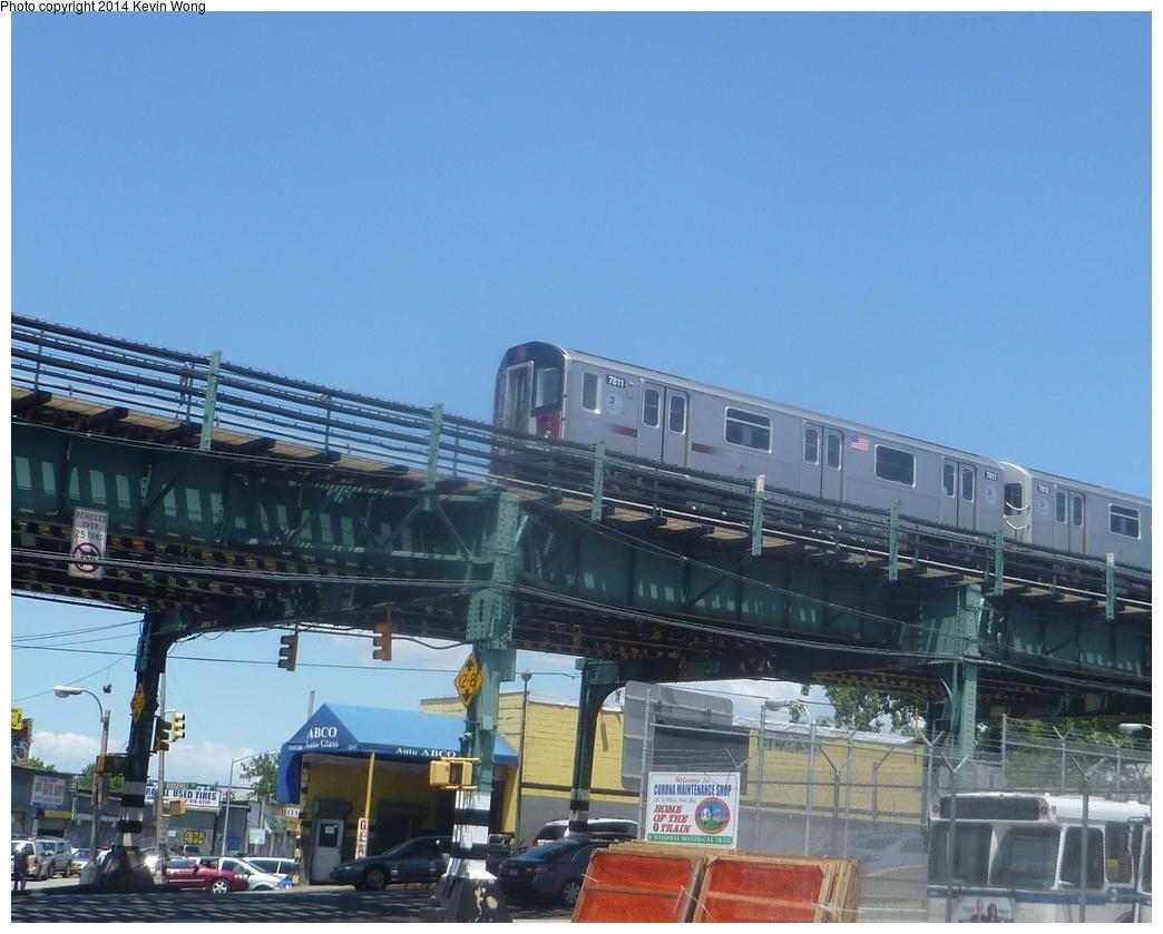 (305k, 1044x839)<br><b>Country:</b> United States<br><b>City:</b> New York<br><b>System:</b> New York City Transit<br><b>Line:</b> IRT Flushing Line<br><b>Location:</b> Willets Point/Mets (fmr. Shea Stadium) <br><b>Route:</b> 7<br><b>Car:</b> R-188 (Kawasaki, 2012-) 7811 <br><b>Photo by:</b> Kevin Wong<br><b>Date:</b> 6/7/2014<br><b>Viewed (this week/total):</b> 0 / 1063