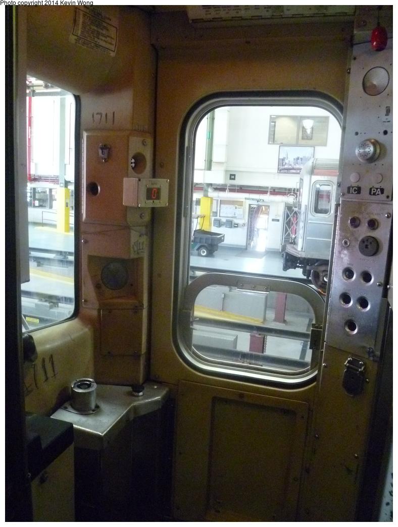 (319k, 788x1044)<br><b>Country:</b> United States<br><b>City:</b> New York<br><b>System:</b> New York City Transit<br><b>Location:</b> Corona Shops<br><b>Car:</b> R-62A (Bombardier, 1984-1987)  1711 <br><b>Photo by:</b> Kevin Wong<br><b>Date:</b> 6/7/2014<br><b>Notes:</b> Cab Interior<br><b>Viewed (this week/total):</b> 0 / 982