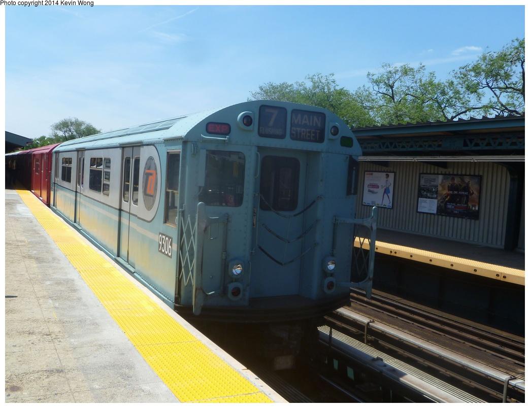(299k, 1044x804)<br><b>Country:</b> United States<br><b>City:</b> New York<br><b>System:</b> New York City Transit<br><b>Line:</b> IRT Flushing Line<br><b>Location:</b> Willets Point/Mets (fmr. Shea Stadium) <br><b>Route:</b> Fan Trip<br><b>Car:</b> R-33 World's Fair (St. Louis, 1963-64) 9306 <br><b>Photo by:</b> Kevin Wong<br><b>Date:</b> 6/8/2014<br><b>Viewed (this week/total):</b> 1 / 949