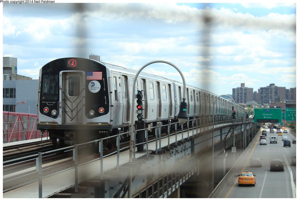 (251k, 1044x703)<br><b>Country:</b> United States<br><b>City:</b> New York<br><b>System:</b> New York City Transit<br><b>Line:</b> BMT Nassau Street/Jamaica Line<br><b>Location:</b> Williamsburg Bridge<br><b>Route:</b> J<br><b>Car:</b> R-160A-1 (Alstom, 2005-2008, 4 car sets)  8412 <br><b>Photo by:</b> Neil Feldman<br><b>Date:</b> 6/6/2014<br><b>Viewed (this week/total):</b> 1 / 829
