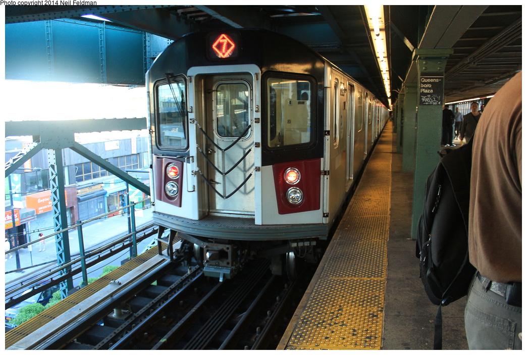 (353k, 1044x703)<br><b>Country:</b> United States<br><b>City:</b> New York<br><b>System:</b> New York City Transit<br><b>Line:</b> IRT Flushing Line<br><b>Location:</b> Queensborough Plaza <br><b>Route:</b> 7<br><b>Car:</b> R-188 (R-142A Conversion, Kawasaki, 1999-2002) 7240 <br><b>Photo by:</b> Neil Feldman<br><b>Date:</b> 6/6/2014<br><b>Viewed (this week/total):</b> 0 / 1519